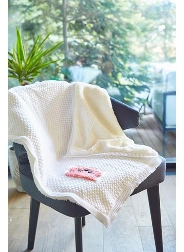 Arma Baby's Çift Taraflı Beyaz Ayıcıklı Havlu Battaniye 85 x 85 Beyaz